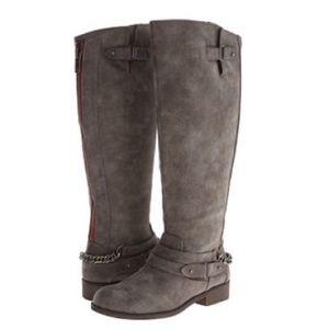 NWOT Madden Girl Grey Caanyon Tall Riding Boots 7